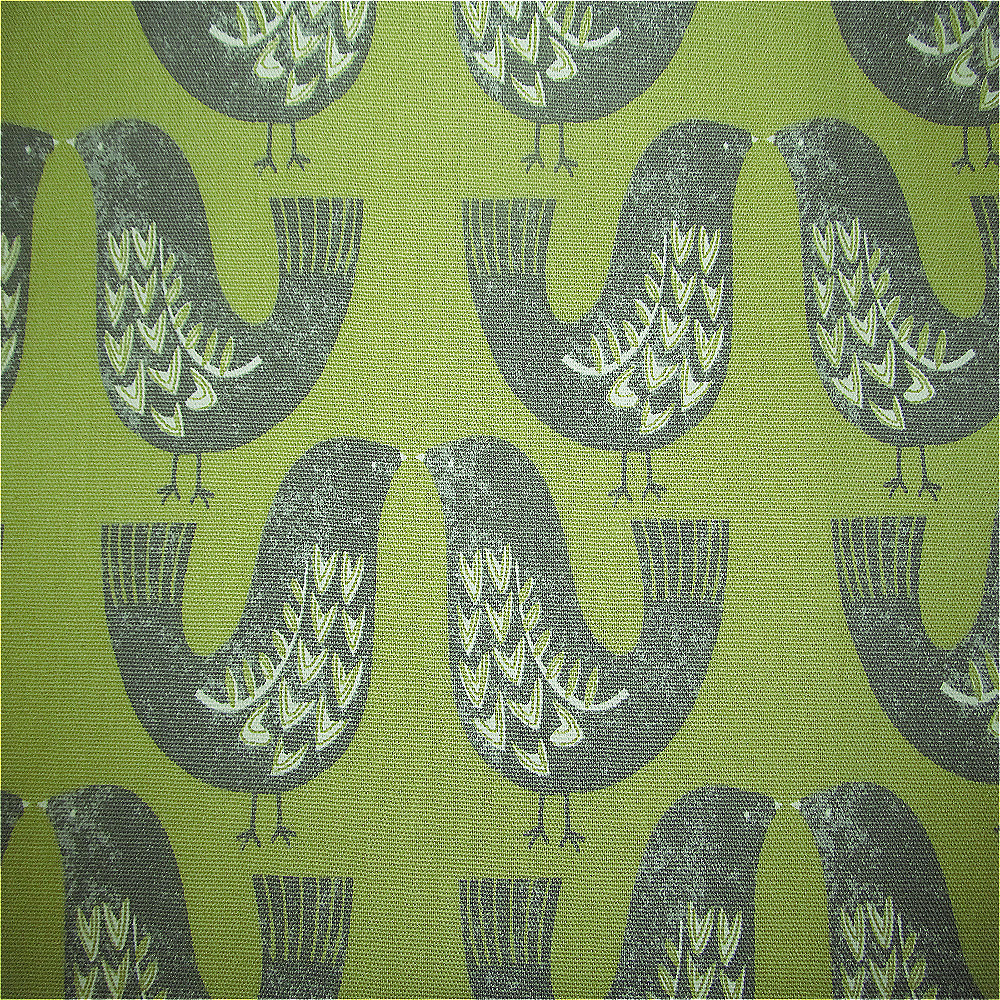 Iliv Scandinavian Birds Curtain Fabric Kiwi Curtain