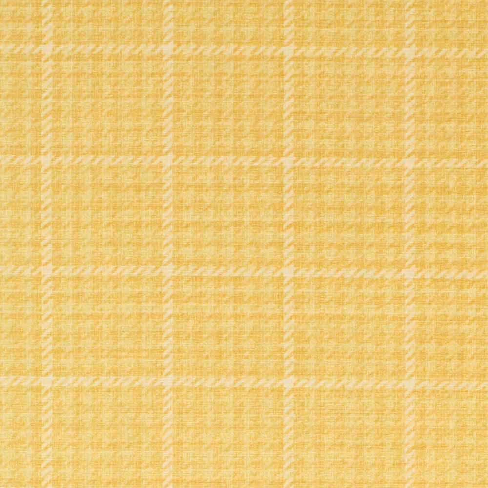 Scutt Amp Coles Landora Check Fabric Yellow