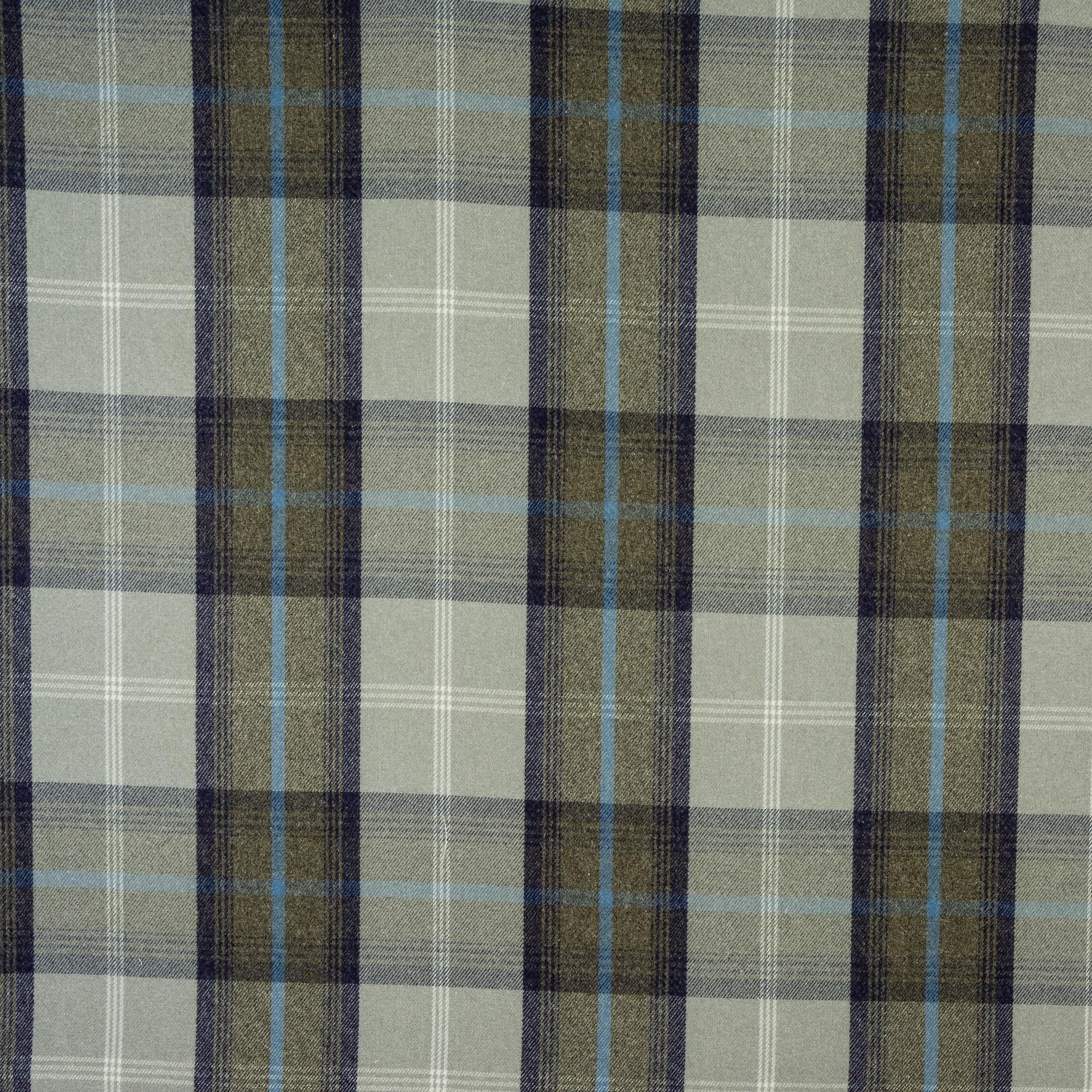 Fryetts Balmoral Curtain Fabric Oxford Blue