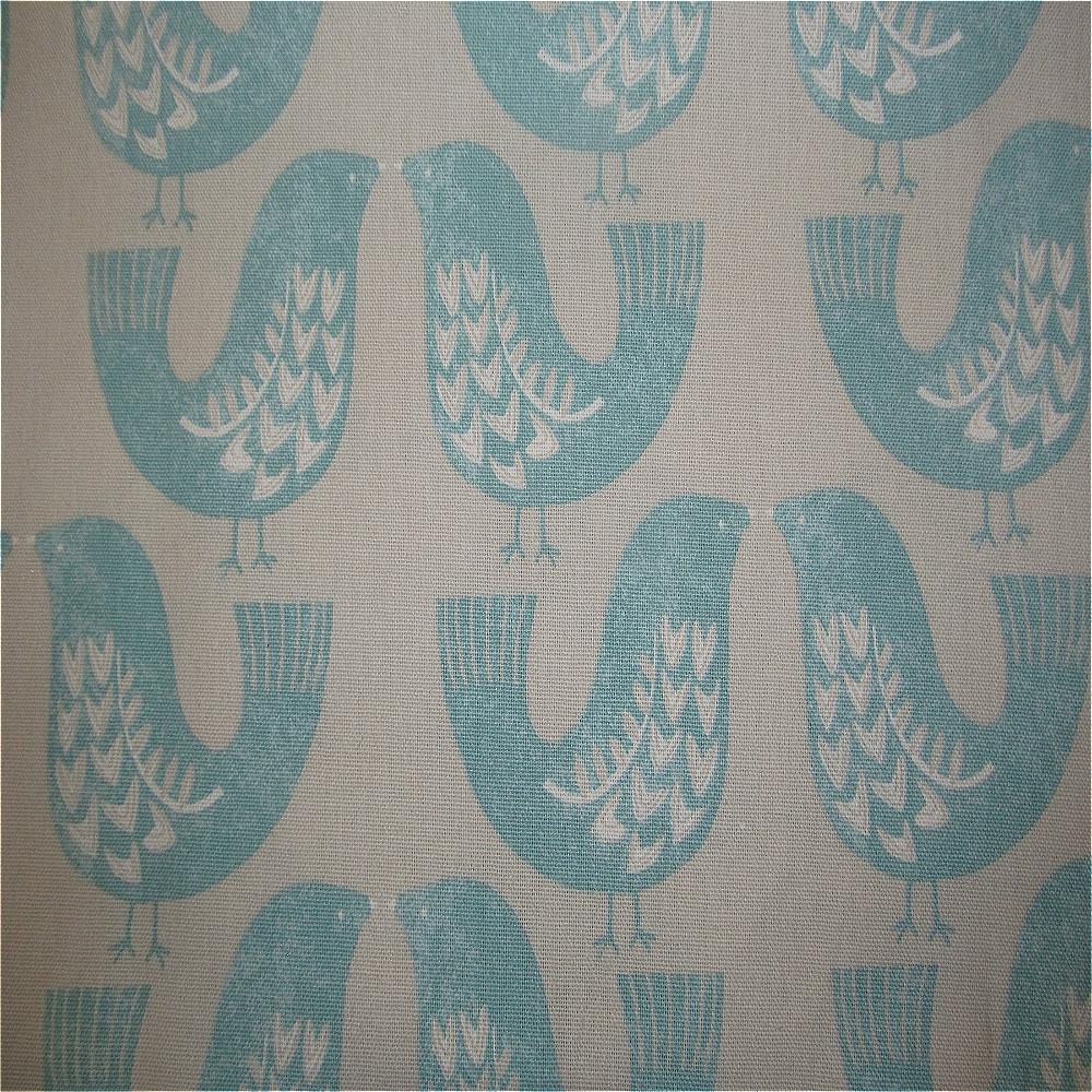 iLiv Scandinavian Birds Curtain Fabric Aqua | Curtain Factory Outlet