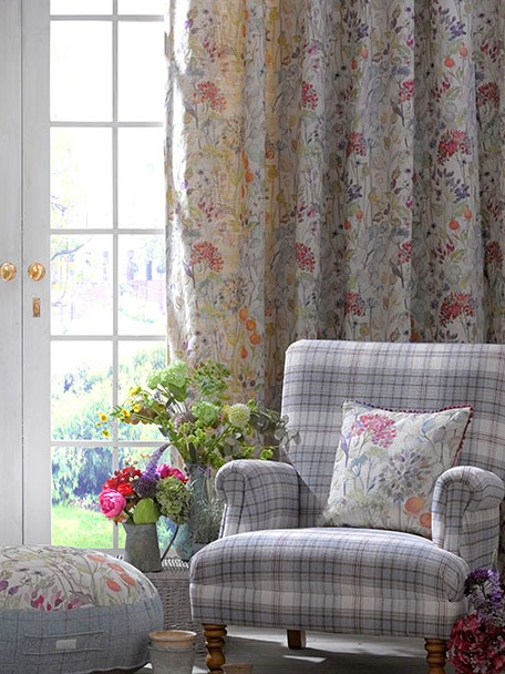 Voyage Country Curtain Fabric Hedgerow Autumn   Curtain Factory Outlet