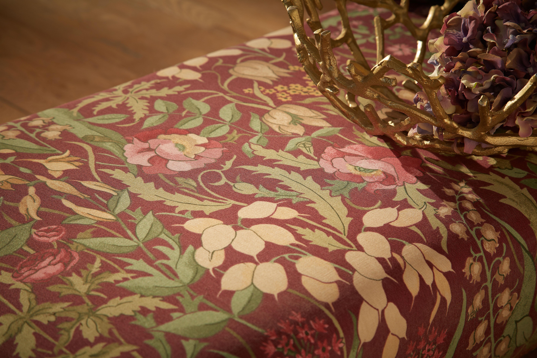 Iliv Kelmscott Claret Iliv Curtain Fabric