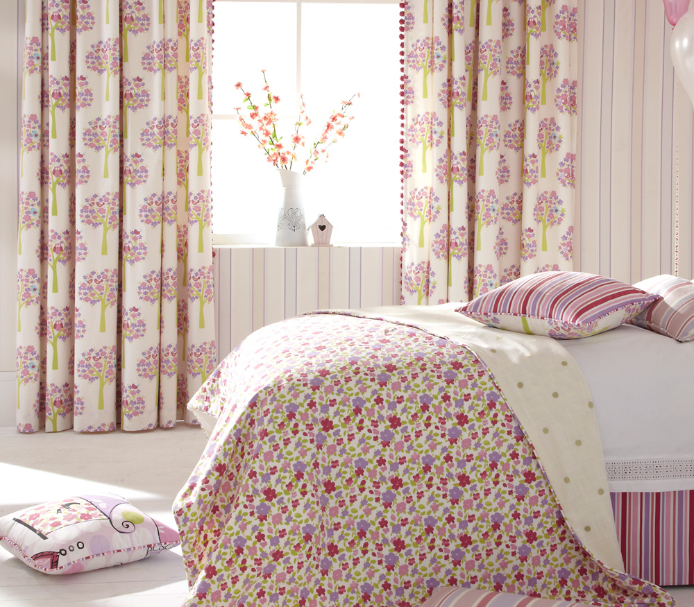 Liv Maisy Pink Curtain Fabric