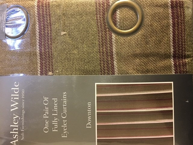 Downton Mulberry Ready Made Curtains 90x54 Quot