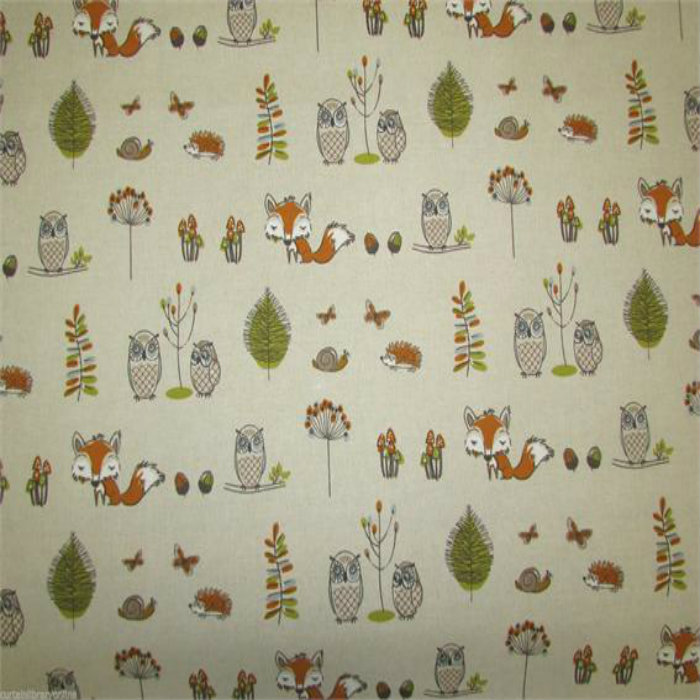 Fryetts Woodlands Fox Curtain Fabric Curtain Factory Outlet
