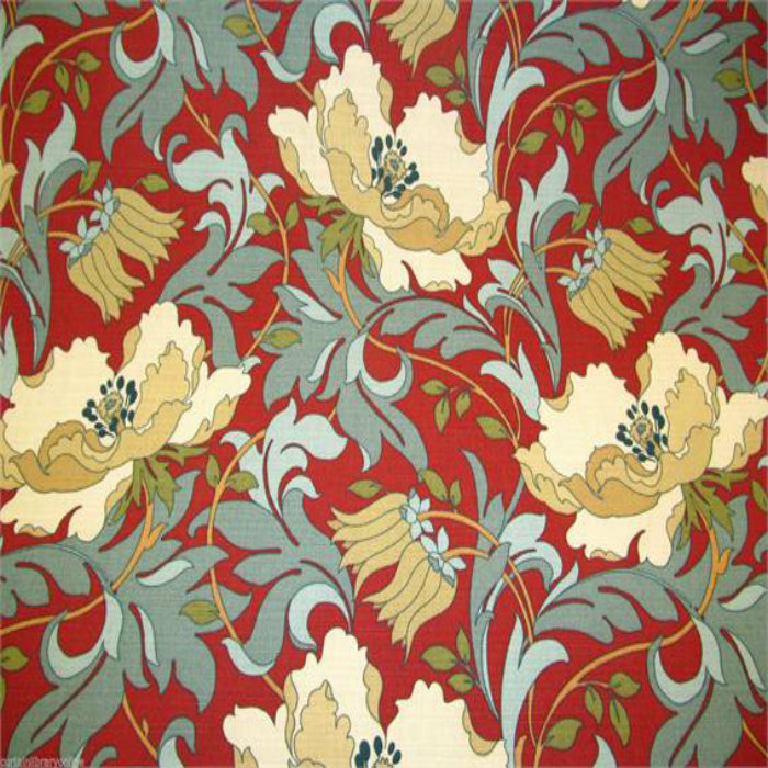 ILiv Art Deco Curtain Fabric Cherry