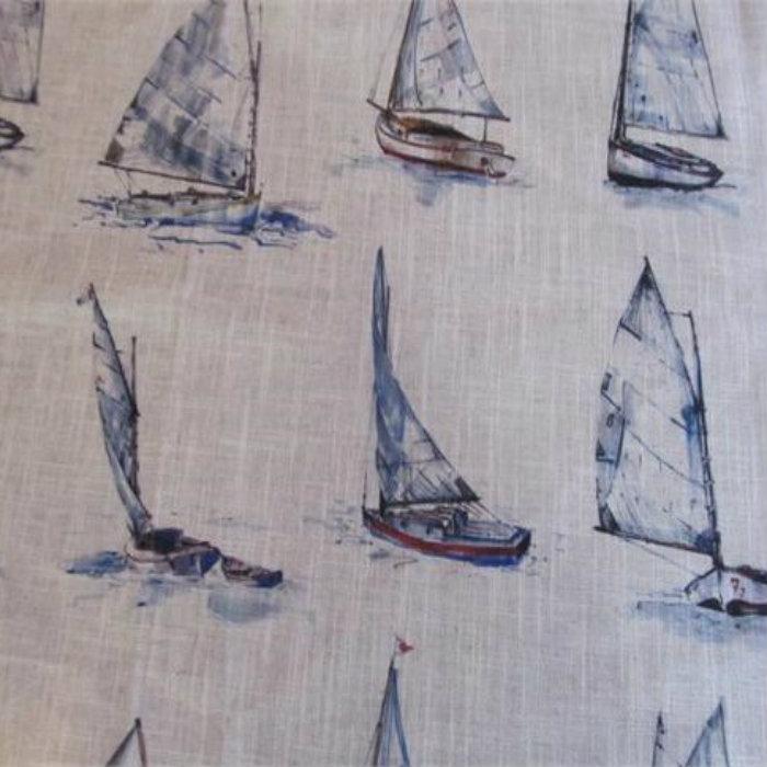 Clarke And Clarke Linen Blend Curtain Fabric Yachts