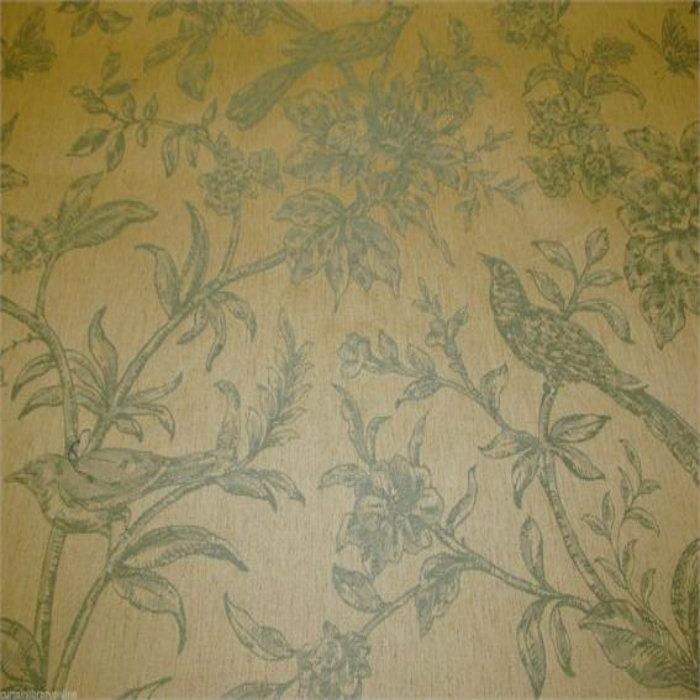 toile de jouy vichy birds chartres curtain fabric aqua curtain factory outlet