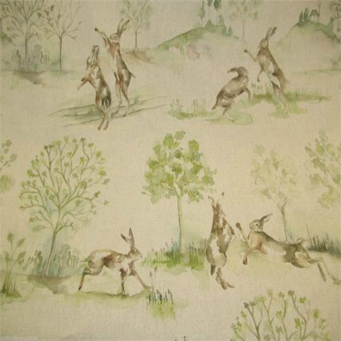 Voyage Country Curtain Fabric Boxing Hares Curtain