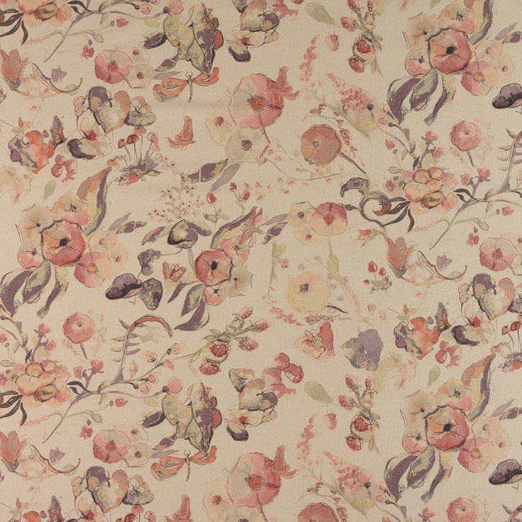 Fibre Naturelle Melody Sweet Lilac Curtain Fabric | Curtain ...