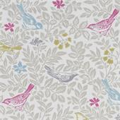Clarke and Clarke MARCH HARE Rabbit Fabric By The Metre Summer Pink Grey